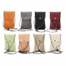 Phone Pocket Wallet Pouch Case Neck Strap Universal Leather Cell Bag Shoulder - $11.99