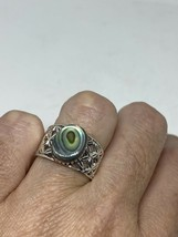 Vintage Abalone Ring 925 Sterling Silver Size 8 - $64.39