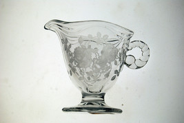 Fostoria Willowmere 1938 footed creamer rose etched - $4.46