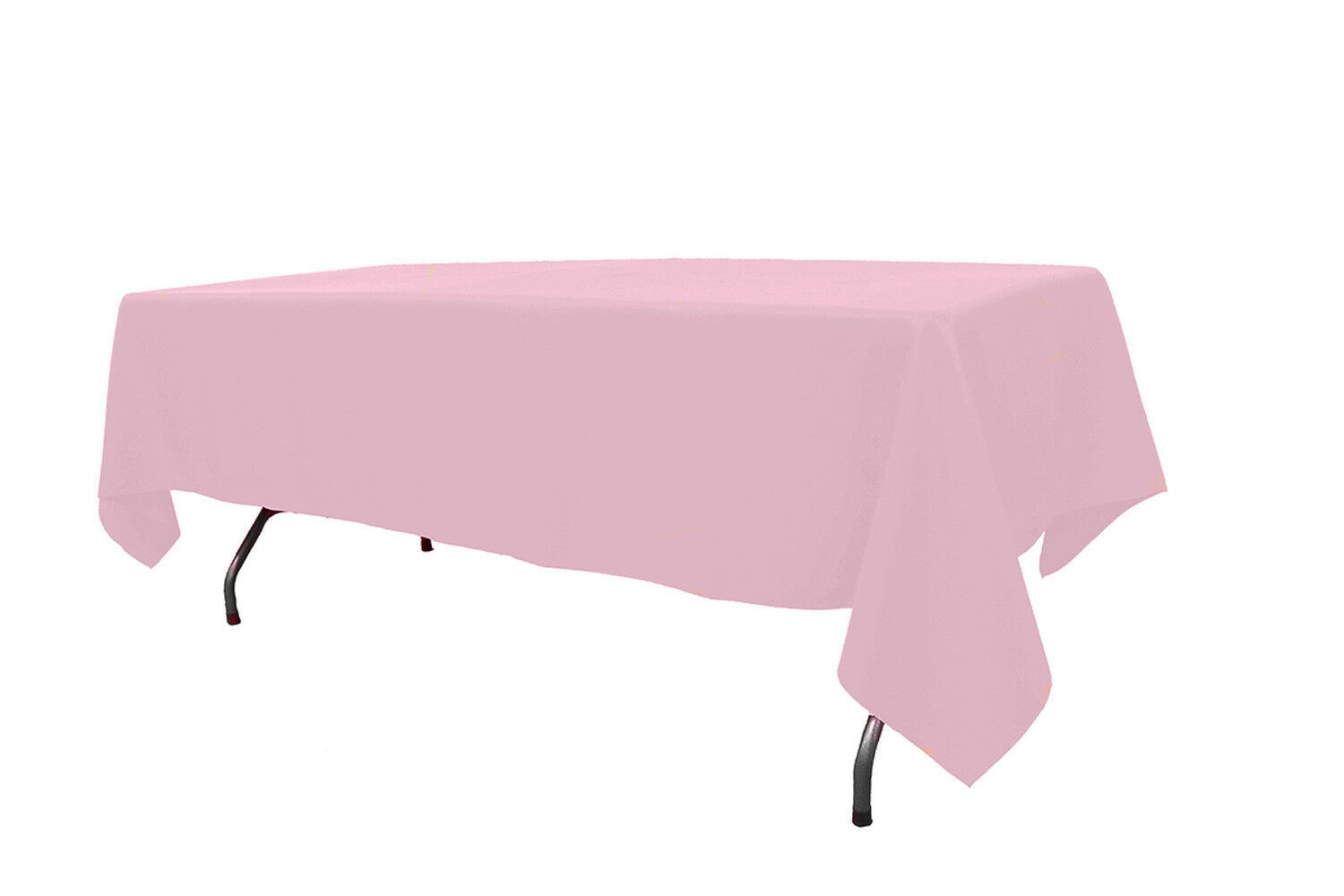 Primary image for Premium Polyester Tablecloth Pink 60 x 102 inch Rectangular