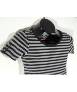 No Boundaries Junior L/G 11-13 Striped Shirt Black Gray D - $9.99
