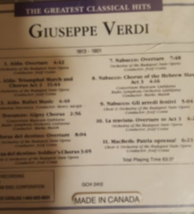 The Greatest Classical Hits Verdi Cd image 2