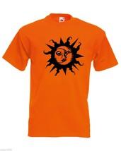 Mens T-Shirt Sun & Moon, Ethical Symbol tShirt, Crescent Day Night Joga Tshirt - $24.74