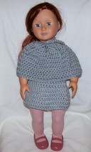 American Girl 2 Piece Outfit, Handmade, Crochet, Skirt, Poncho, 18 Inch ... - $15.00