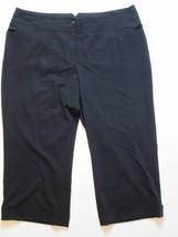 Lane Bryant Women Capri Pants Size 20 Inseam 26 Black #K1 - $16.99