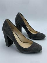 "Jessica Simpson 8.5 Belemo Gray Suede Pumps 4"" High Heels Shoes image 3"
