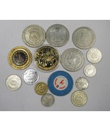 15 Vintage Gambling Casino Tokens All Different C2300 - $22.55