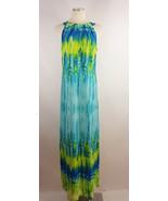 Sandra Darren Sz 10 Blue Waterfall Maxi Dress - $9.89