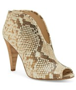 Vince Camuto Snake Print Leather Peep Toe Booties, Multi Sizes Desert S ... - £79.87 GBP
