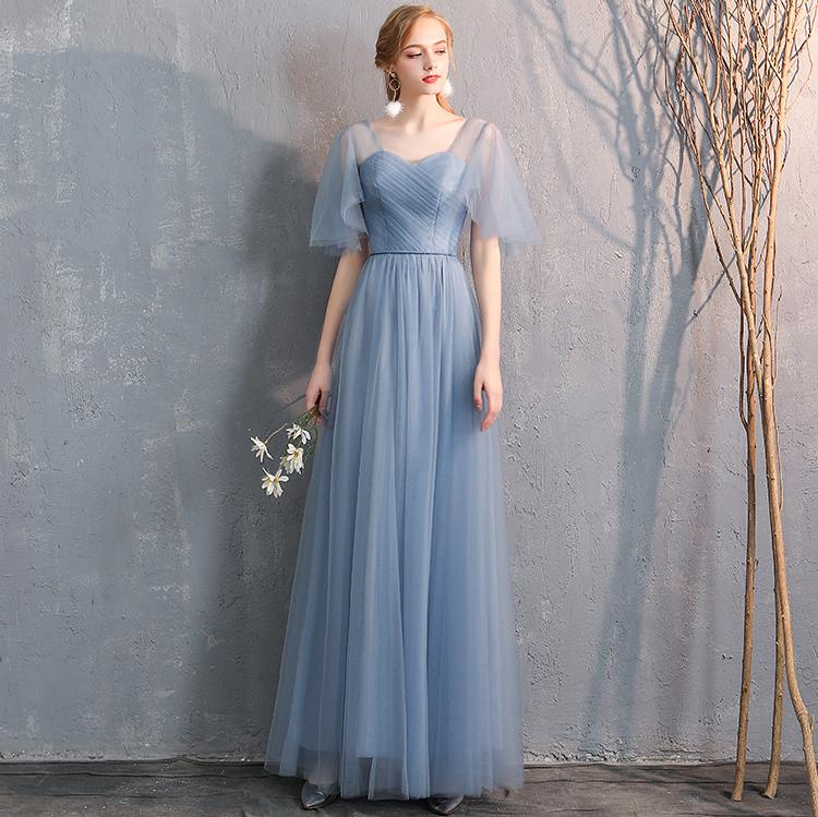 Bridesmaid tulle dress dusty blue 5
