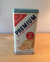 Vintage 60s Nabisco Premium saltine crackers tin 14oz