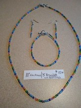 "10"" necklace w/ 3"" bracelet w/ earrings - $15.00"