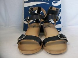 Lucky Brand Size 8.5 M Iness Black Open Toe Heels New Womens Shoes - $88.11