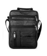 Brand Men Cowhide Leather Handbags Male Messenger Bags Shoulder Bag Brie... - $56.00
