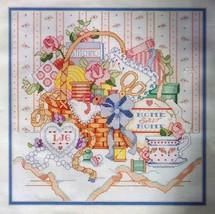 VICTORIAN SEWING BASKET - Bucilla Counted Cross-Stitch Kit © 1990 - $12.99
