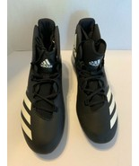 Adidas Men Sz 12.5 FREAK X CARBON mid football cleats Black White BW1414 - $24.95