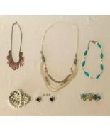 Costume Jewelry Estate Lot Multi Strand Beaded Necklace Earrings Bracelet  - $9.99