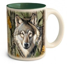 CMUG 906 American Expedition 15 oz Wolf Camo Stoneware Coffee Mug - $15.88
