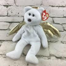 Ty Beanie Babies Halo II Plush Angel Teddy Bear Stuffed Animal Toy 2000 W/Tag  - $9.89
