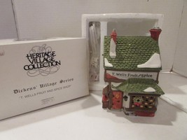 DEPT 56 59242 T.WELLS FRUIT & SPICE SHOP HERITAGE VILLAGE  W/CORD  D8 - $29.39