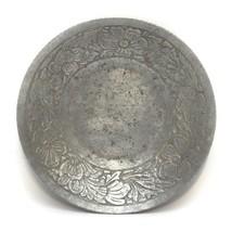 Hand Forged Everlast Metal Aluminum Dish Bowl Floral Design  8 1/4 in Vi... - $11.85