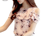 Rt sleeve blouses print floral chiffon shirts casual ladies clothing female blusas thumb155 crop