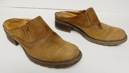 Timberland Smart Slip On Mules Clogs Shoes Leather Brown Size 6.5 M - $29.95