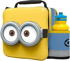 Despicable Me Minions 3d Thermal Lunch Bag With Sports Bottle - $22.59