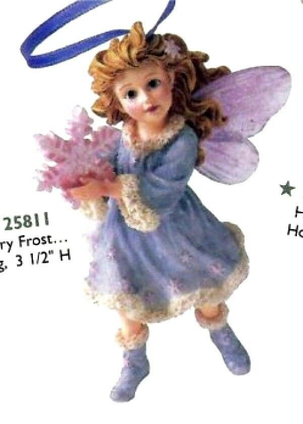 """Boyds Wee Folkstone Faerie """"Flurry Frost..Winter Dusting"""" Ornament-#25811 - New - $24.99"""
