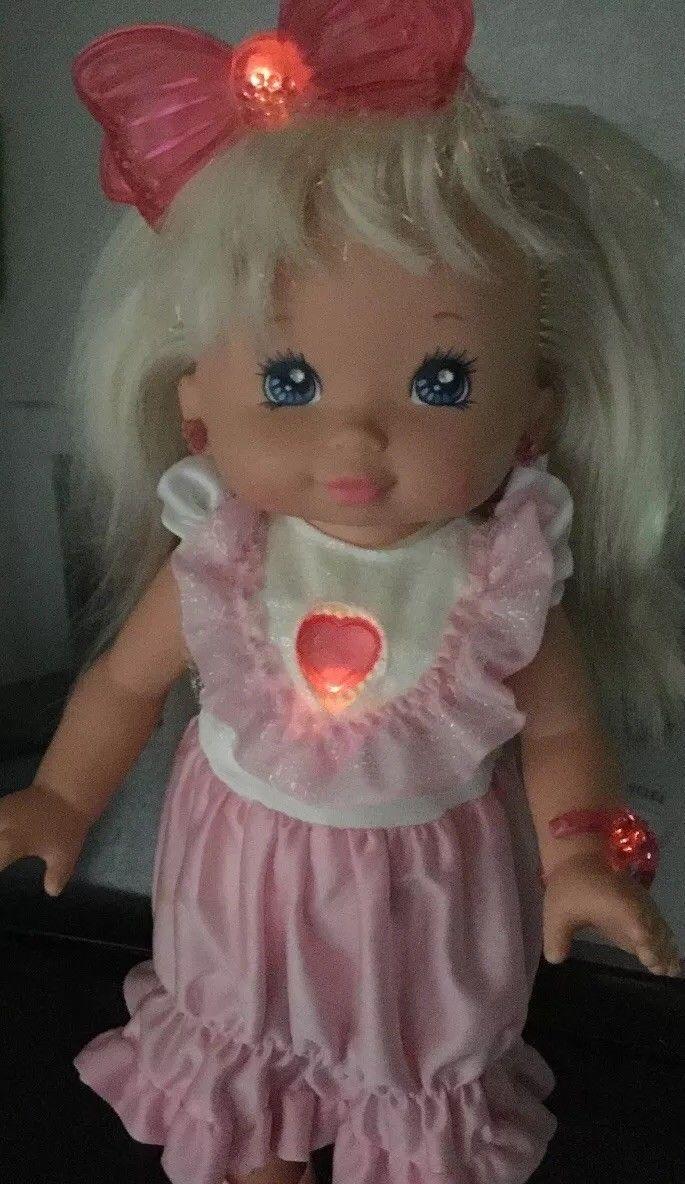 PJ Sparkles Doll*WORKS*Plus Original Clothes*Dress*Vintage Mattel 1988* E22