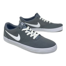 NIKE SB Women's 11 Check Solar Sneakers Solarsoft Canvas Cool Grey 92146... - $48.45