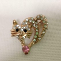 Fabulous, Gold Tone,  Butterfly Clear Rhinestone Brooch 1.25in x 1in - $5.65
