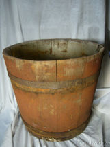Antique Wooden Maple Syrup Sap Bucket  image 3