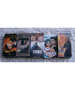 5 Lot VHS Tapes Movies Titanic Gone With The Wind Grease Pearl Harbor Br... - $9.39