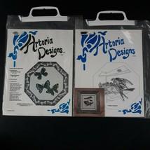 Vtg Artoria Cross Stitch Patterns Flight Of Butterflies & Barn Swallow L... - $9.99