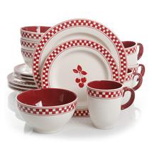 Gibson General Store 16 Piece Cherry Diner Ceramic Dinnerware  Set - $110.69