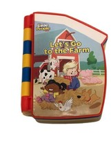 Fisher Price ~ Little People LET'S GO TO THE FARM - Interactive Book / Puzzle - $9.93