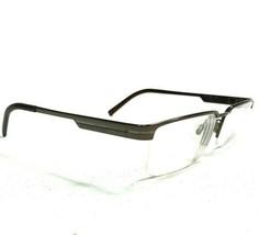 Burberry B1170 1094 Sunglasses Eyeglasses Frames Gray Rectangular Half R... - $46.74