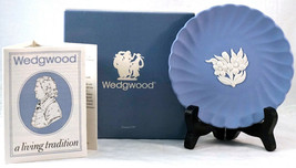 Wedgewood 4018 Fluted Jasper Candy Tray in Box #2 Blue Jasperware Flower... - $26.99