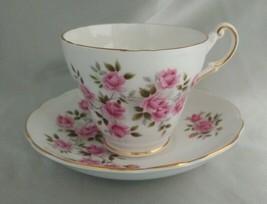 Vintage REGENCY Bone China (England) Pink Roses Tea Cup & Saucer Set, Gold Trim - $19.11