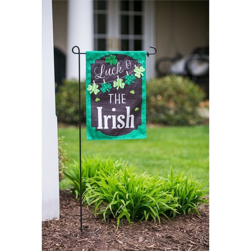 St Patricks Day Chalkboard House Banner / Garden Flag NEW Evergreen Holiday