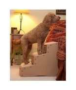 NEW Pet Stairs Cat Dog Steps 3 Step 23 in Tall Easy Up Carpet Tread Wide... - $66.23