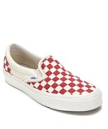 Vans OG Classic Slip-On LX Sneakers (US Men's 11, White/Red) - $59.40
