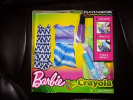Barbie Crayola Color-in Fashions TIE-DYE FASHION Blue, Green, and Purple... - $20.00