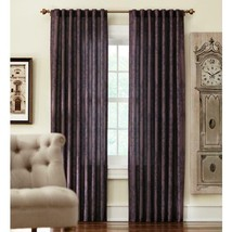 """NEW 2 Pack Tonal Damask Light Filtering Window Panels in Chocolate 50"""" x 84"""" - $28.50"""