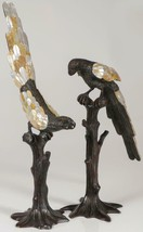 CLEARANCE!! $6,000 GORGEOUS PAIR OF ESTATE BRONZE LIFE SIZE PARROT BIRDS - $2,970.00