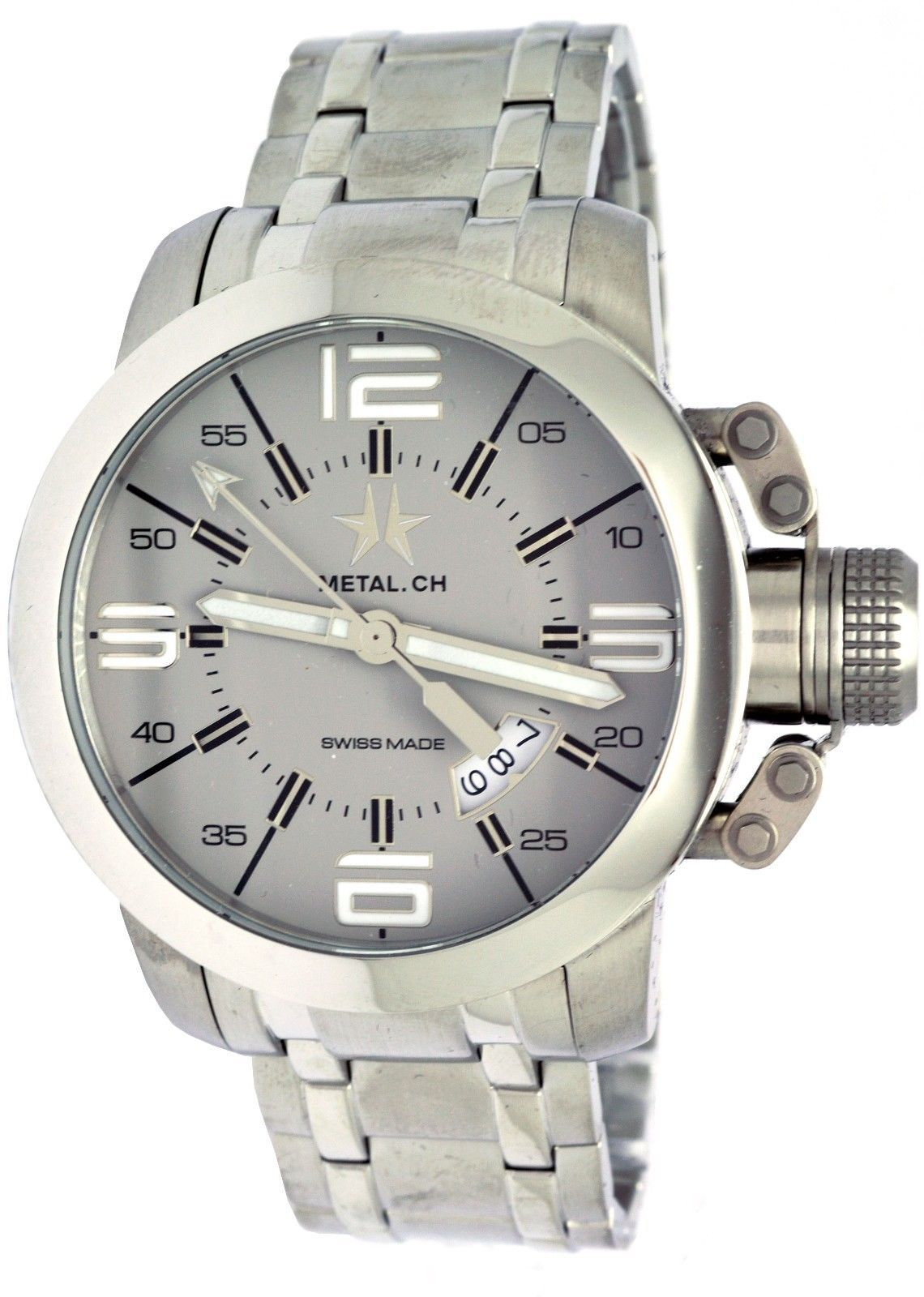 Metal Ch 1132.44S Stainless Steel Grey Dial Men's Watch