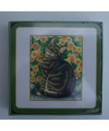 TABBY CAT COASTERS - GIFT PACK OF 6 COASTERS IDEAL FOR CAT LOVERS - $7.55