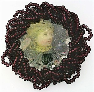 Primary image for Victorian Style Hand Beaded Artistic Brooch 3