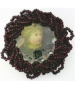 Victorian Style Hand Beaded Artistic Brooch 3 - $10.10